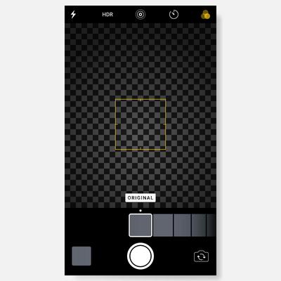 Iphone User interface photo frame design camera.