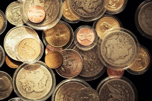 Precious American Dollars Collectible Coins Closeup