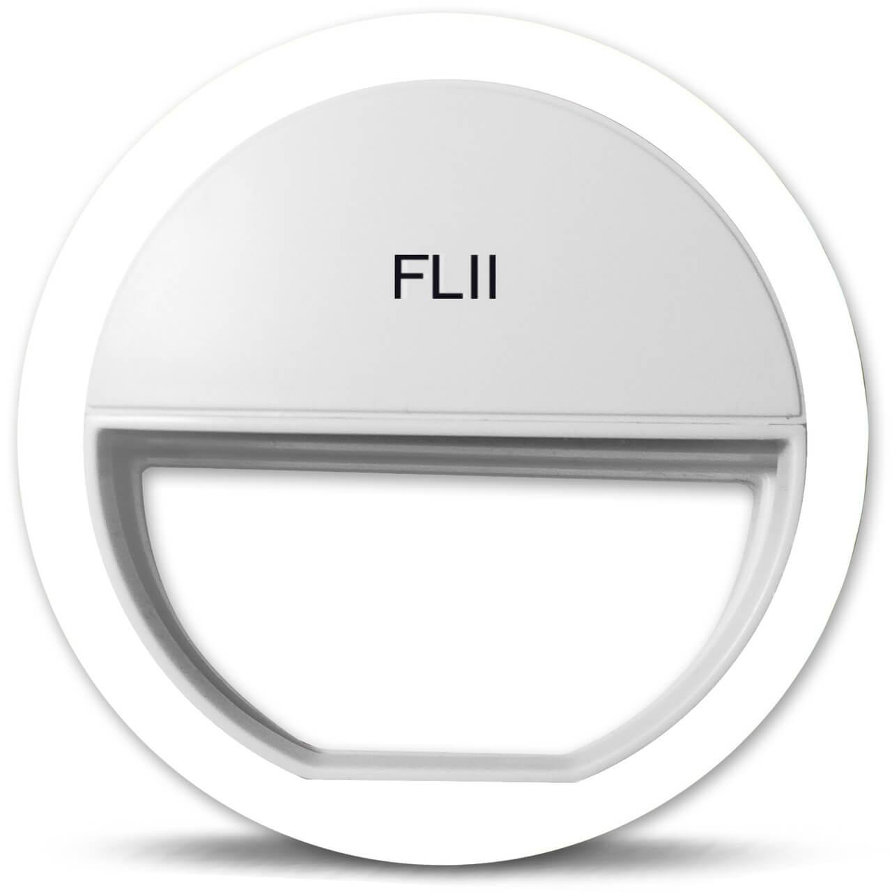 White FLII Selfie Ring Light - selfie lights iPhone