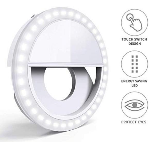 White GIM Selfie Ring Light