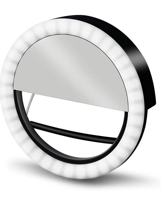 Black and White GLOUE Selfie Light Ring