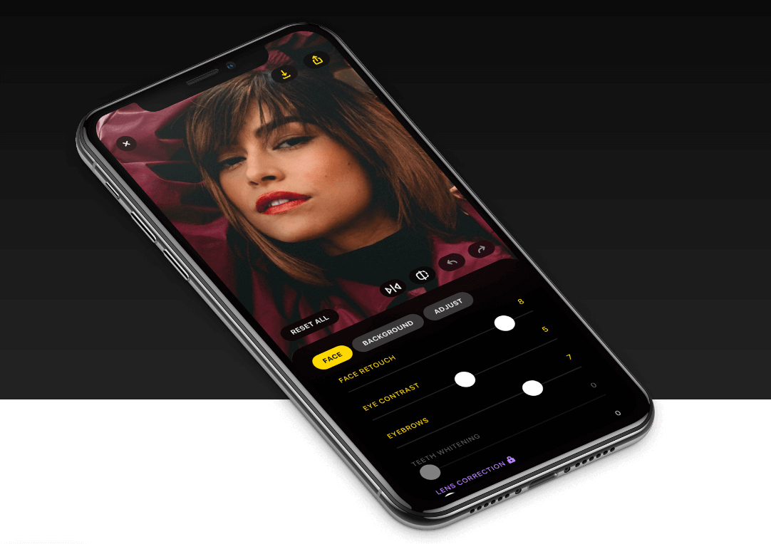 Lensa app on iPhone