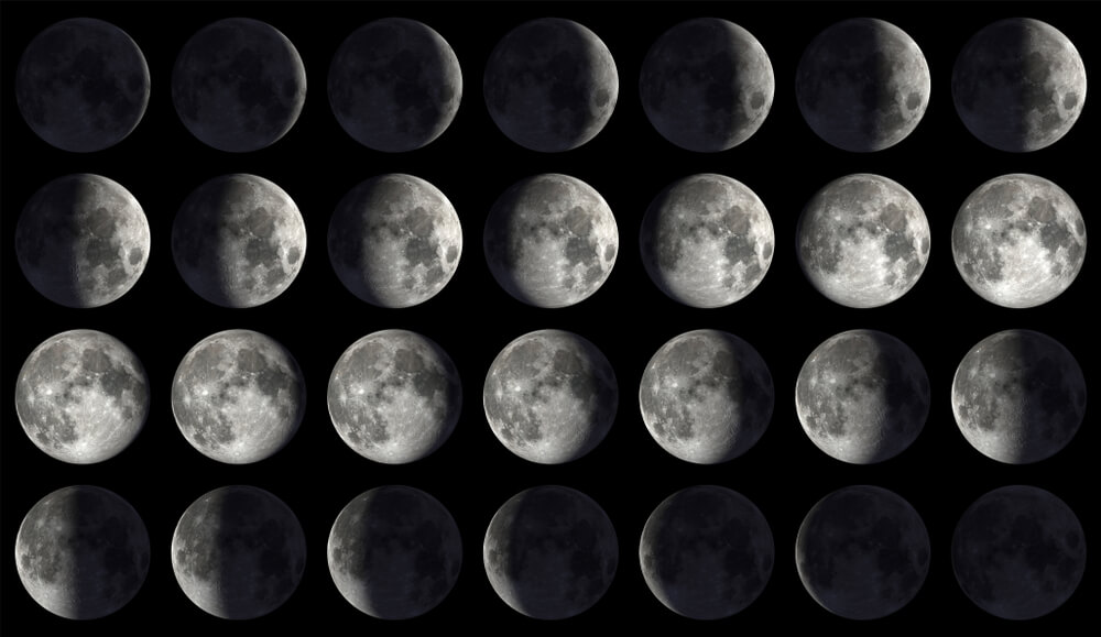 High-Resolution Moon Calendar
