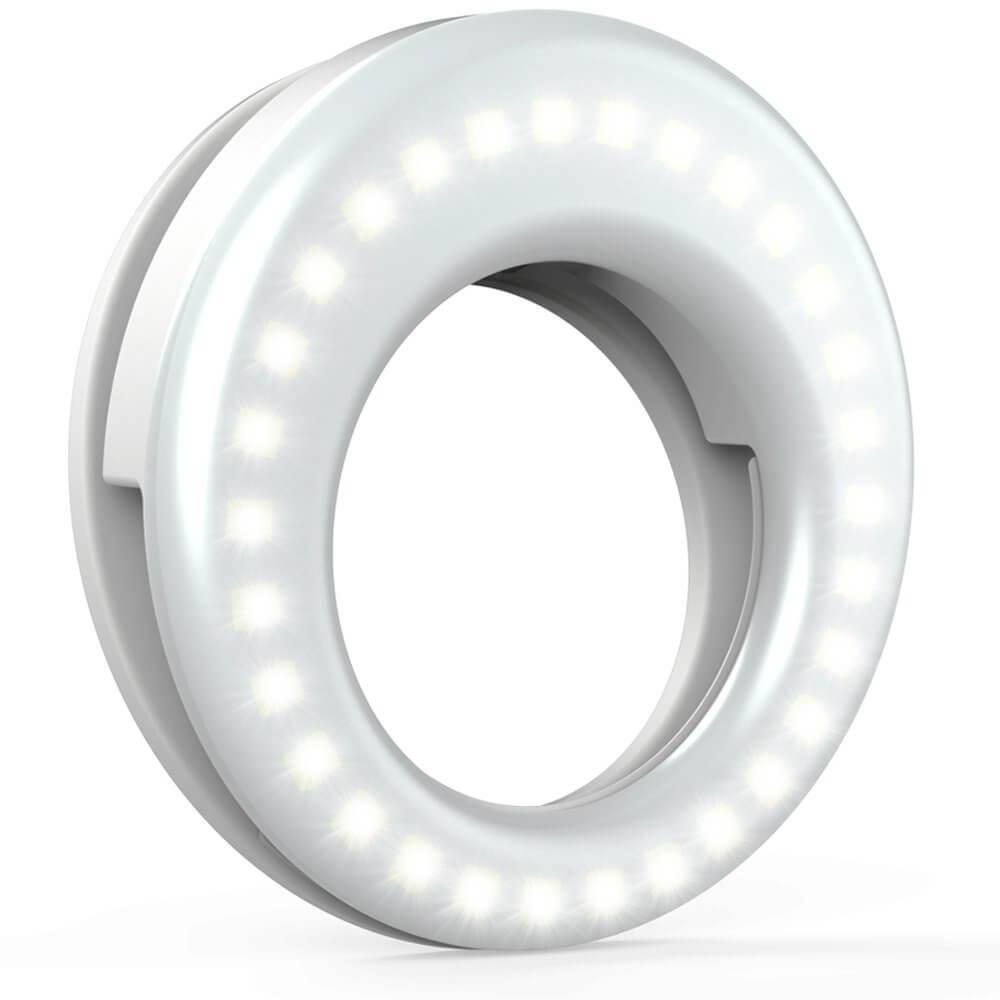 QIAYA Selfie Ring Light White - selfie lights iPhone