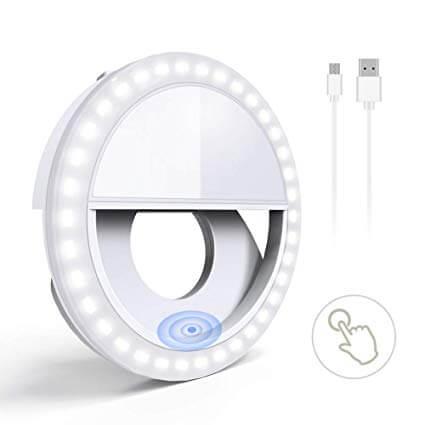 SKL Selfie Light White and USB Cord