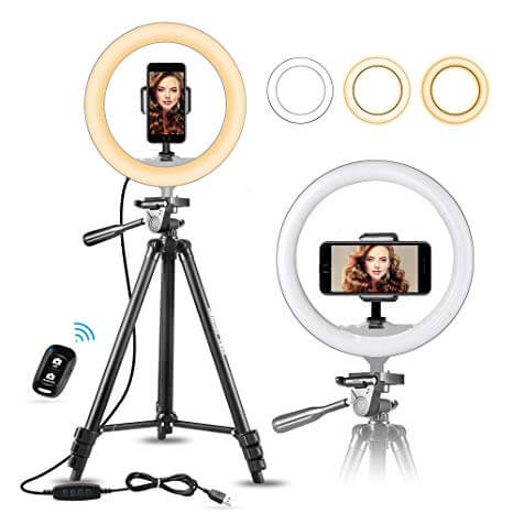 UBeesize Selfie Ring Light with Tripod Stand and Remote Shutter Button