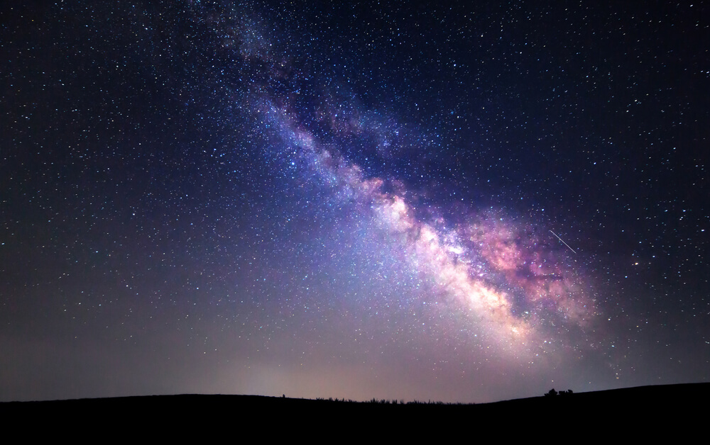 Milky Way. Beautiful summer night sky with stars