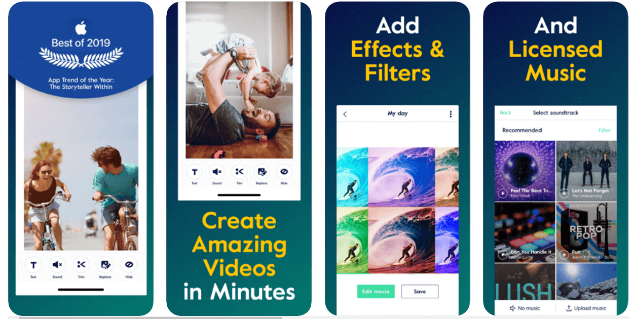 Magisto - video editing apps