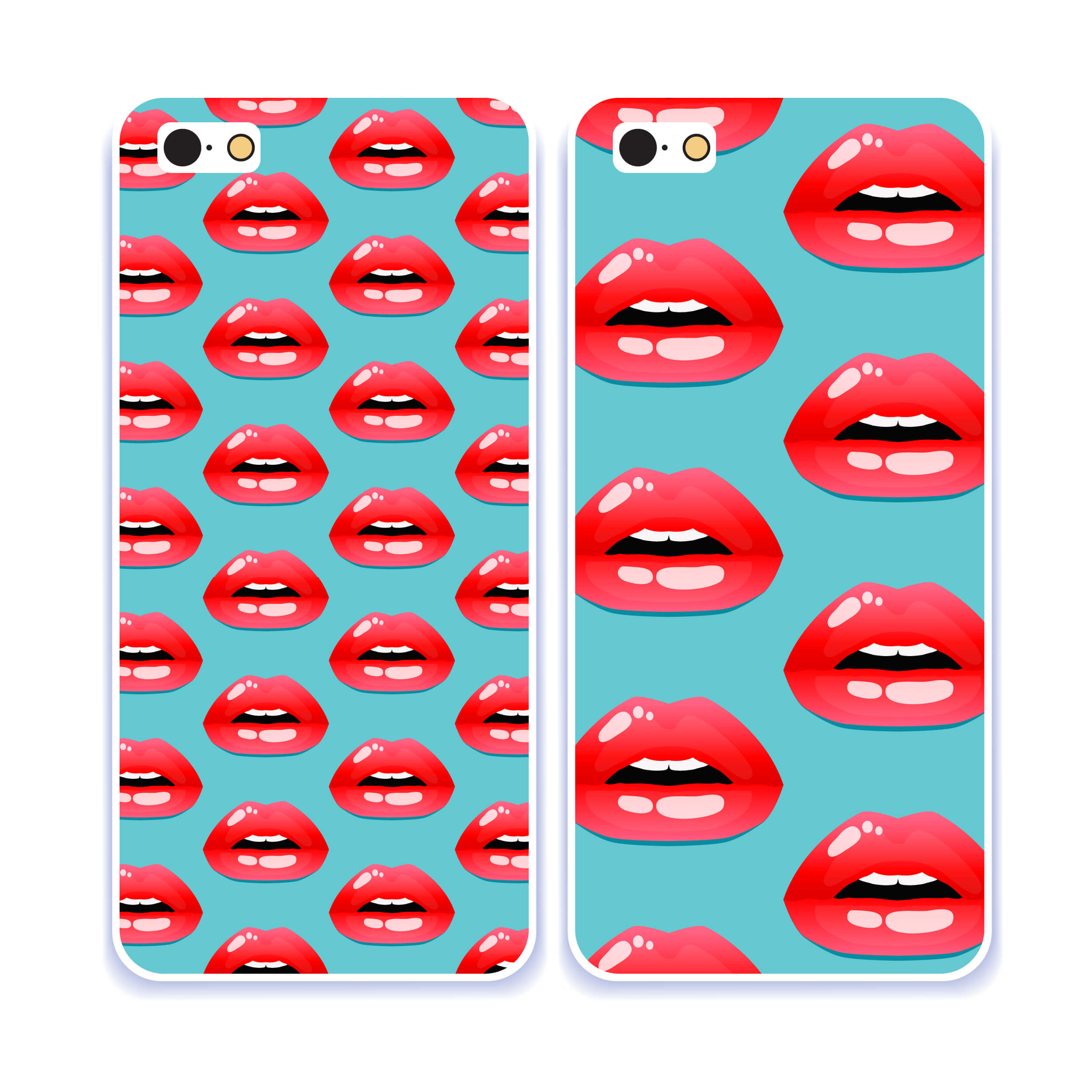 DIY iPhone cover - red lips patter iPhone cover