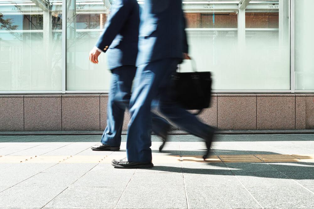 Businessmen walking on the street