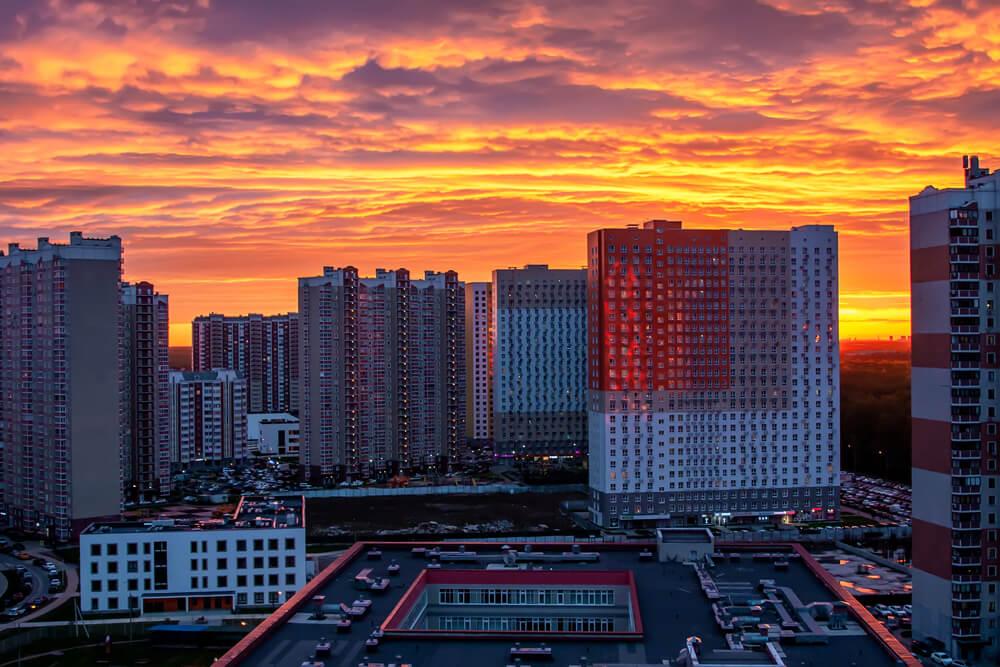city sunset - night photos on iPhone