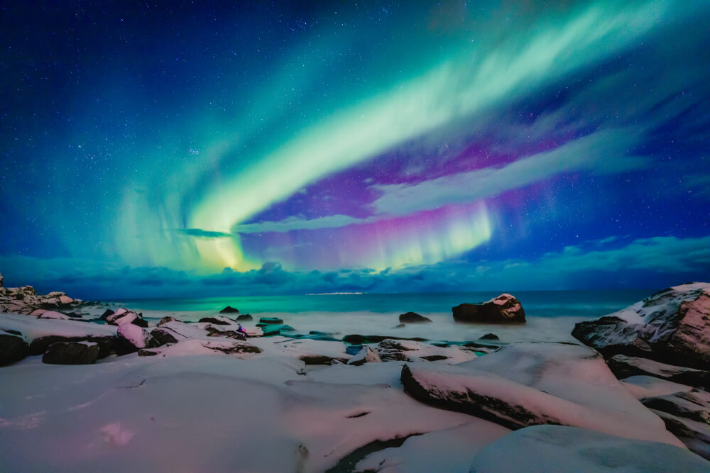 colorful Northern Lights on iPhone