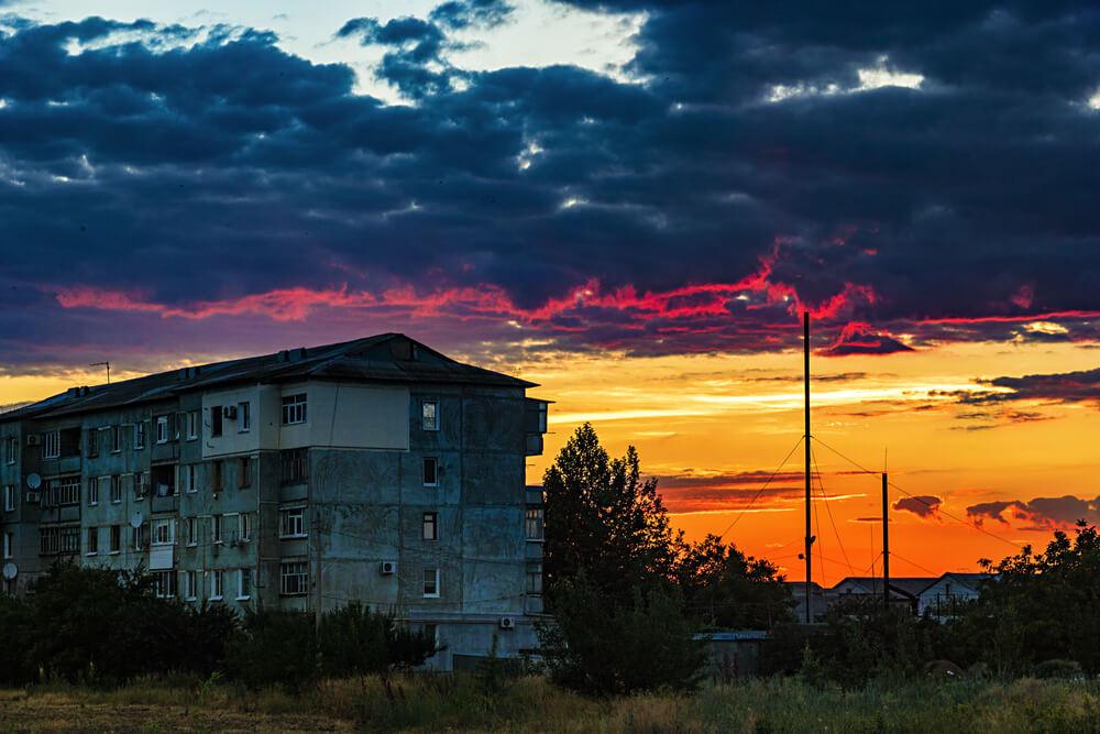 sunset - night photos on iPhone